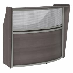 "Linea Italia, Inc 70""W Curved Reception Desk, Mocha"