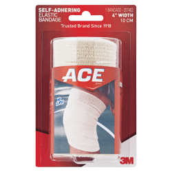 """ACE Athletic Support Wrap, 4"""" Width, Tan"""