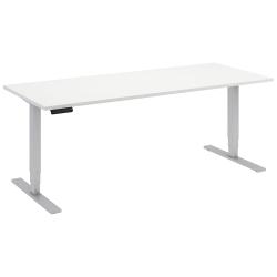 "Bush Business Furniture Move 80 Series 72""W x 30""D Height Adjustable Standing Desk, White/Cool Gray Metallic, Premium Installation"
