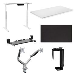 """Mount-It Executive Pro Plus 6-Piece Standing Desk Set, 48""""H x 24""""W x 12""""D, White"""