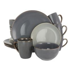 Elama 16-Piece Stoneware Dinnerware Set, Tahitian Grand