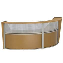"Linea Italia, Inc 2-Unit 124""W Curved Reception Desk, Maple"