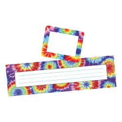 Barker Creek Name Tag And Name Plate Set, Tie-Dye