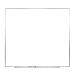 """Ghent Non Magnetic Dry-Erase Whiteboard, 48 1/2"""" x 48 1/2"""", Silver Aluminum Frame"""