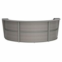 "Linea Italia, Inc 143""W 3-Unit Curved Reception Desk, Ash"