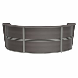 "Linea Italia, Inc 143""W 3-Unit Curved Reception Desk, Mocha"