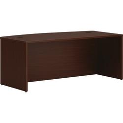 "HON® Mod Bowfront 72""W Desk, Mahogany"