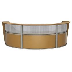 "Linea Italia, Inc 3-Unit 143""W Curved Reception Desk, Maple"