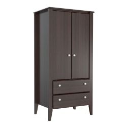 Inval Contemporary Storage Cabinet, Espresso