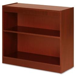 "Lorell® Veneer Bookcase, 2-Shelf, 30""H, Cherry"