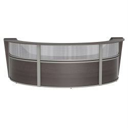 "Linea Italia, Inc 3-Unit 143""W Curved Reception Desk, Mocha"