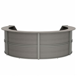 "Linea Italia, Inc 142""W 4-Unit Curved Reception Desk, Ash"