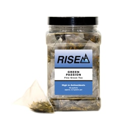 RISE NA Green Passion Tea, 8 Oz, Canister Of 50 Sachets
