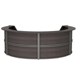 "Linea Italia, Inc 142""W 4-Unit Curved Reception Desk, Mocha"