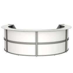 """Linea Italia, Inc 142""""W 4-Unit Curved Reception Desk, White"""