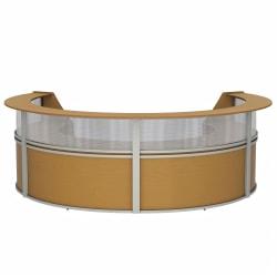 "Linea Italia, Inc 4-Unit 142""W Curved Reception Desk, Maple"