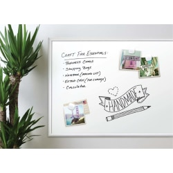"""U Brands Magnetic Dry-Erase Whiteboard, 36"""" x 48"""", Aluminum Frame With Silver Finish"""