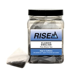 RISE NA English Blend, 8 Oz, Canister Of 25 Sachets