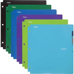 """Mead Letter Pocket Folder - 8 1/2"""" x 11"""" - 4 Inside Left, Inside Right Pocket(s) - Assorted - 6 / Pack"""
