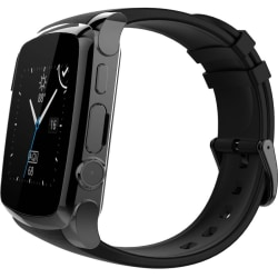 """Supersonic Bluetooth Smart Watch with Call Feature - Wrist - Alarm - Sleep Quality, Distance Traveled, Steps Taken, Calories Burned - 1.5"""" - 640 x 480 - Bluetooth - Bluetooth 3.0 - Black - Health & Fitness, Communication - Water Resistant"""