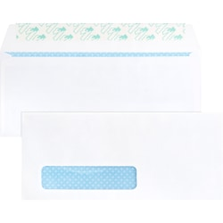 """Business Source Security Tint Window Envelopes - Business - #10 - 9 1/2"""" Width x 4 1/8"""" Length - Peel & Seal - Wove - 500 / Box - White"""