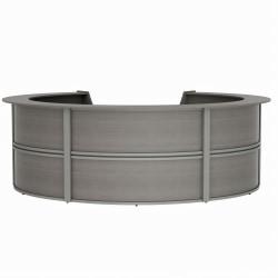 "Linea Italia, Inc. 142""W Curved Modern Reception Desk, Ash"