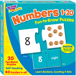 Trend® Fun-To-Know Puzzle, Numbers 1-20, 40 Pieces