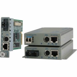 Omnitron Systems 10/100/1000BASE-T UTP to 1000BASE-X Media Converter and Network Interface Device - 1 x Network (RJ-45) - Management Port - 1000Base-X - 1 x Expansion Slots - 1 x SFP Slots - Wall Mountable