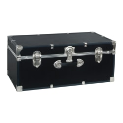 "Advantus Stackable Footlocker Trunk, 15-3/4"" x 30"" x 12"", Black"