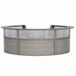 "Linea Italia, Inc 142""W 5-Unit Curved Reception Desk, Ash"