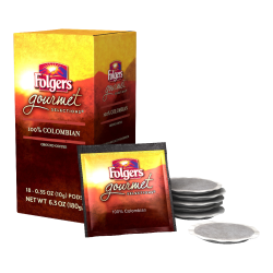 Folgers® Gourmet Selections Single-Serve Coffee Pods, Colombian, 6.3 Oz, Carton Of 18