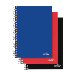 """Office Depot® Brand Spiral Poly Notebook, 7"""" x 4 1/2"""", College Ruled, 100 Sheets, Assorted Colors (No Color Choice), Pack Of 3"""