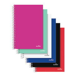 """Office Depot® Brand Spiral Poly Notebook, 5"""" x 8 1/2"""", College Ruled, 100 Sheets, Assorted Colors (No Color Choice)"""