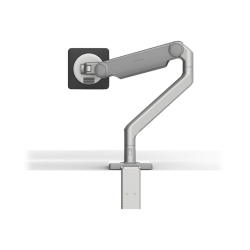 Humanscale M2.1 - Mounting kit (monitor arm, two-piece desk clamp mount) for LCD display (adjustable arm) - silver with gray trim - mounting interface: 100 x 100 mm