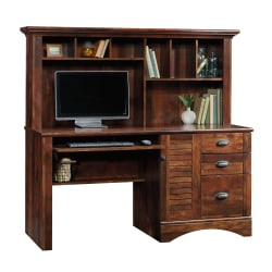Sauder® Harbor View Collection Computer Desk With Hutch, Curado Cherry