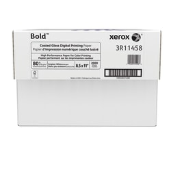 """Xerox® Bold Digital™ Coated Gloss Printing Paper, Letter Size (8 1/2"""" x 11""""), 94 (U.S.) Brightness, 80 Lb Cover (210 gsm), FSC® Certified, 250 Sheets Per Ream, Case Of 8 Reams"""