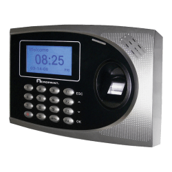 "Acroprint TimeQPlus Biometric Time And Attendance System, 12"" x 10.1"" x 4.5"", Black/Silver"