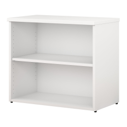 Bush Business Furniture 400 Series 2 Shelf Bookcase White Standard Delivery Office Depot