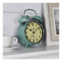 FirsTime & Co.® Double Bell Alarm Clock, Aged Teal