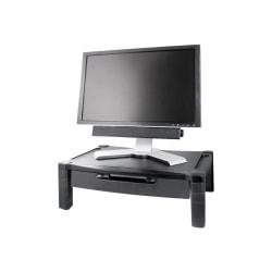 "Kantek Extra Wide Adjustable Monitor Laptop Stand with Drawer - 50 lb Load Capacity20"" Width - Desktop - Plastic - Black"