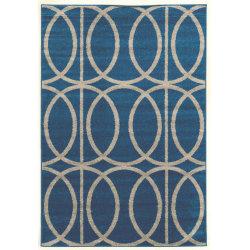 "Linon Honora Area Rug, 24""H x 36""W, Mara Blue/Gray"