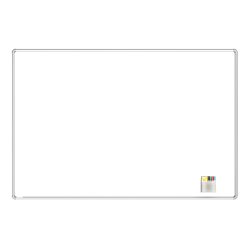 "Ghent Nexus Magnetic Dry-Erase Whiteboard, 48"" x 72"", Aluminum Frame With Satin Silver Finish"
