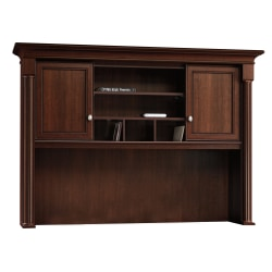 Sauder® Palladia Collection Credenza Hutch, Select Cherry