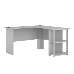 Ameriwood™ Home Dakota L-Shaped Desk With Bookshelves, Dove Gray