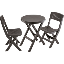 Rimax 3-Piece Breakroom/Lunch Room Table and Chairs Set, Espresso