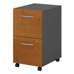 Bush Business Furniture Components 2 Drawer Mobile File Cabinet, Natural Cherry/Graphite Gray, Standard Delivery