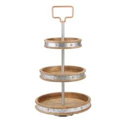Mind Reader Metal 3-Tier Pastry Display Stand, Silver
