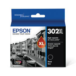Epson® T302XL020-S High-Yield Black Ink Cartridge