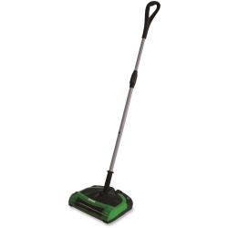 "BigGreen Cord-Free Electric Sweeper - 17 fl oz - 11.50"" Cleaning Width - Battery - Battery Rechargeable - Green"