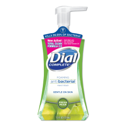 Dial Complete® Foaming Antibacterial Hand Wash, Fresh Pear, 7.5 Oz.